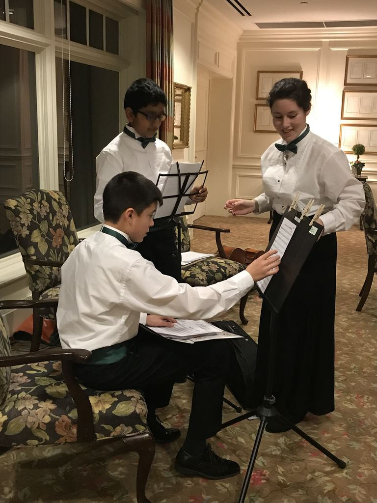 BHMS Orchestra Trio Play For Rotary & Optimist Clubs