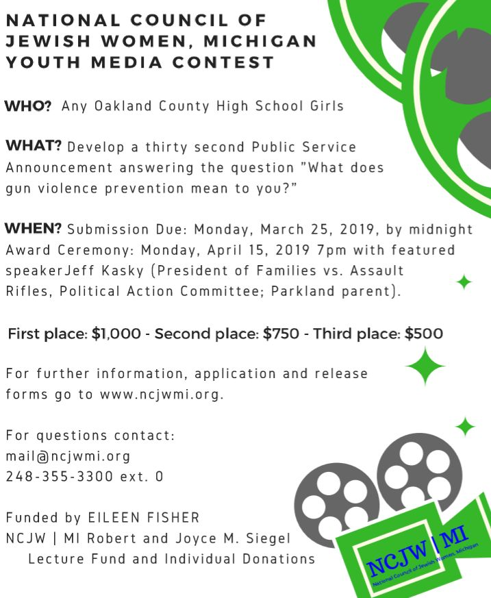 Youth Media Contest - National Council of Jewish Women