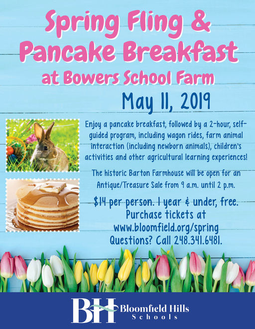 Save the Date! Spring Fling & Pancake Breakfast
