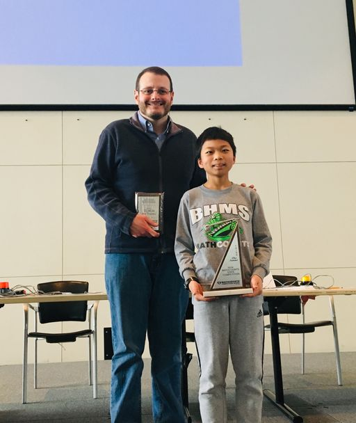 Michael Lu Earns 3rd at Mathcounts State Competition