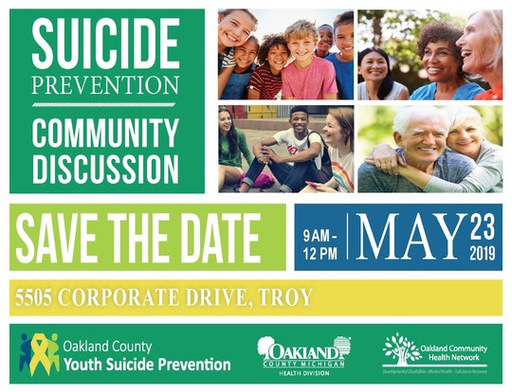 Save the Date: Youth Suicide Prevention Community Discussion