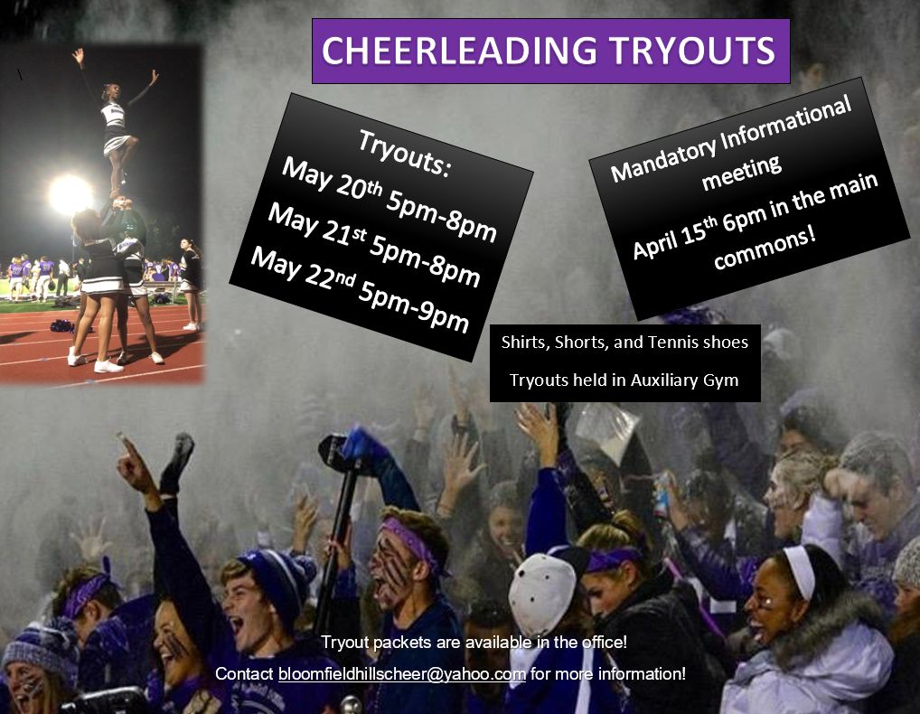 Cheerleading Meeting & Tryout Information
