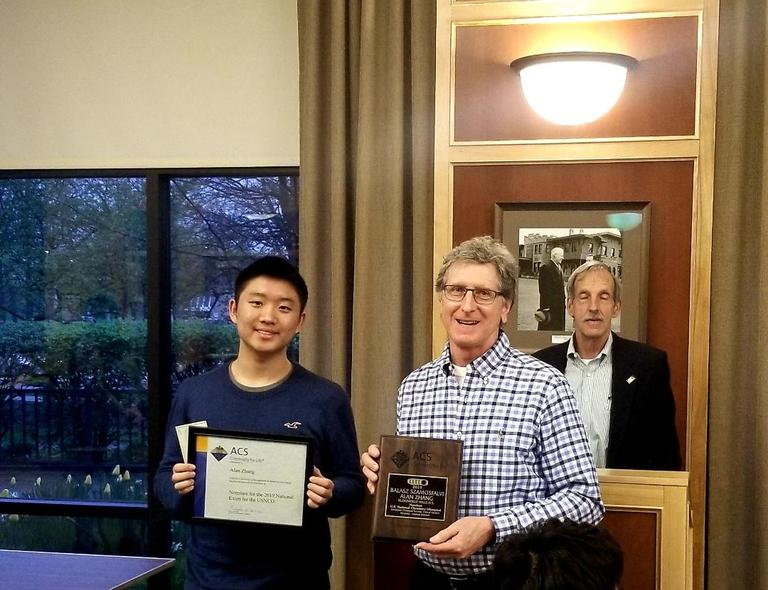 Alan Zhang Receives Honors for U.S. National Chemistry Olympiad