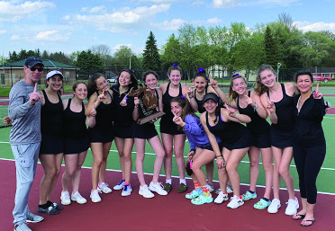 Girls Varsity A Tennis Advance to State Competition