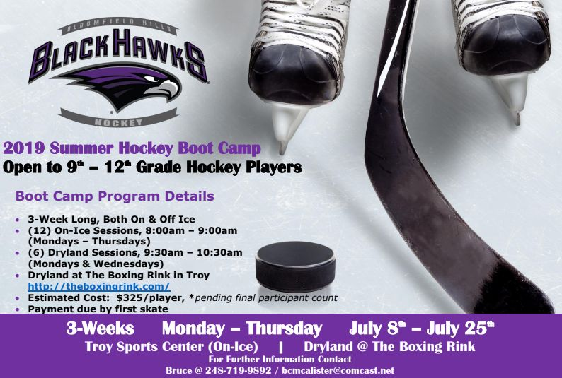 Boys Hockey Summer Boot Camp