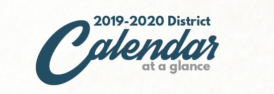 2019-2020 School Calendar Available