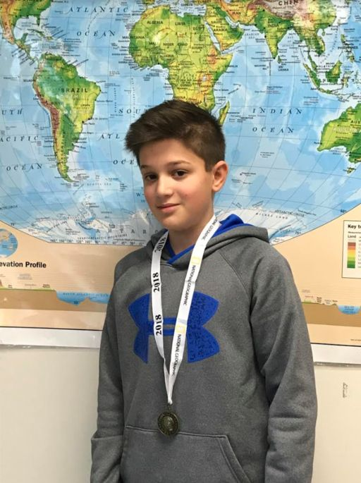 Neal Pullukat Move Forward to State Level Competition as East Hills Geo Bee Winner