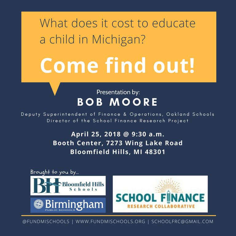 What Does it Cost to Educate a Child in Michigan?