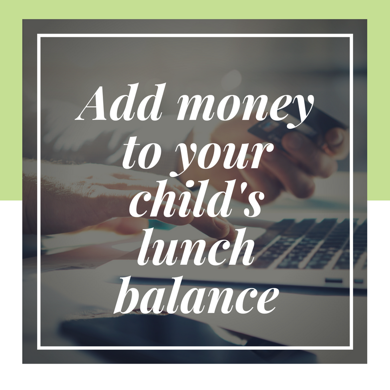 Add money to lunch account button