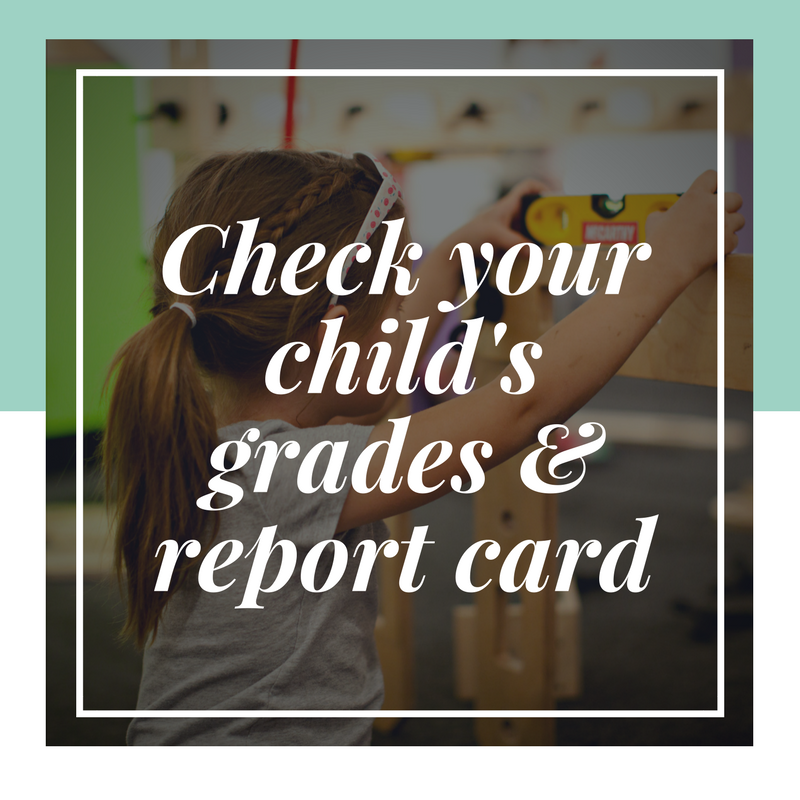 Check your child's report cards and grades