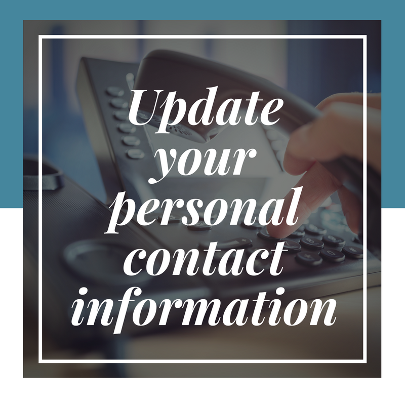 update your contact info button