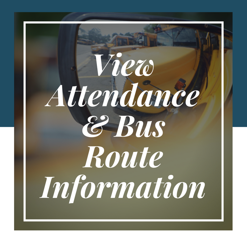 view attendance and bus routes button