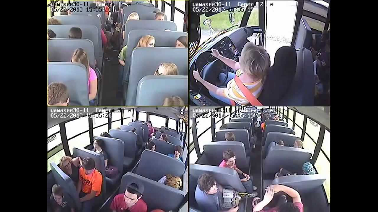 School bus camera footage