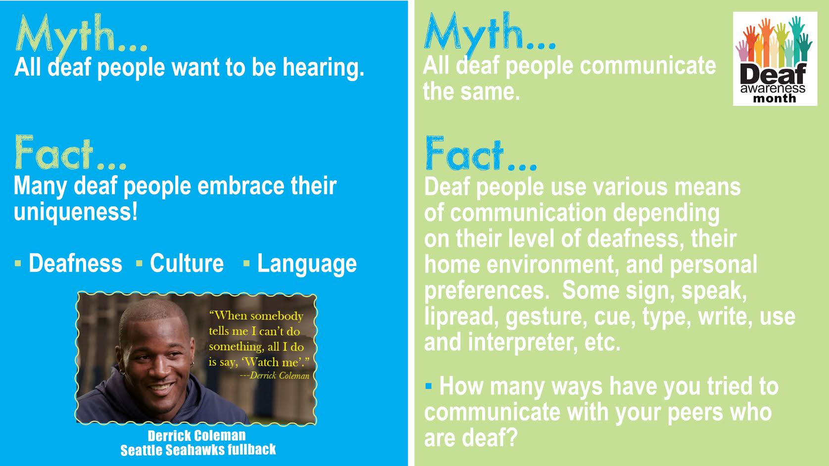 deaf culture versus deaf community essay Deaf culture, and from a deaf cultural perspective, this is preferred there are a great many options for family members to obtain access to asl or sign language.