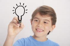 Student With Lightbulb - Visible Thinking at Michigan's Bloomfield Hills Schools