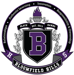 Top Michigan High Schools, Bloomfield Hills School Crest