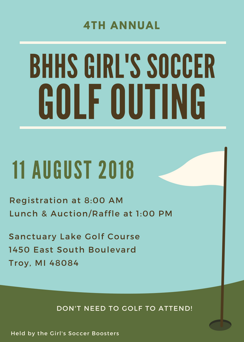 Girls Soccer Golf Outing