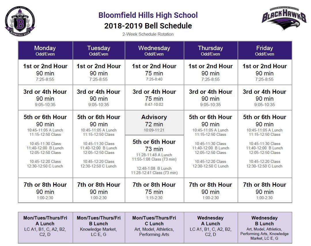bloomfield hills schools - bloomfield hills high school