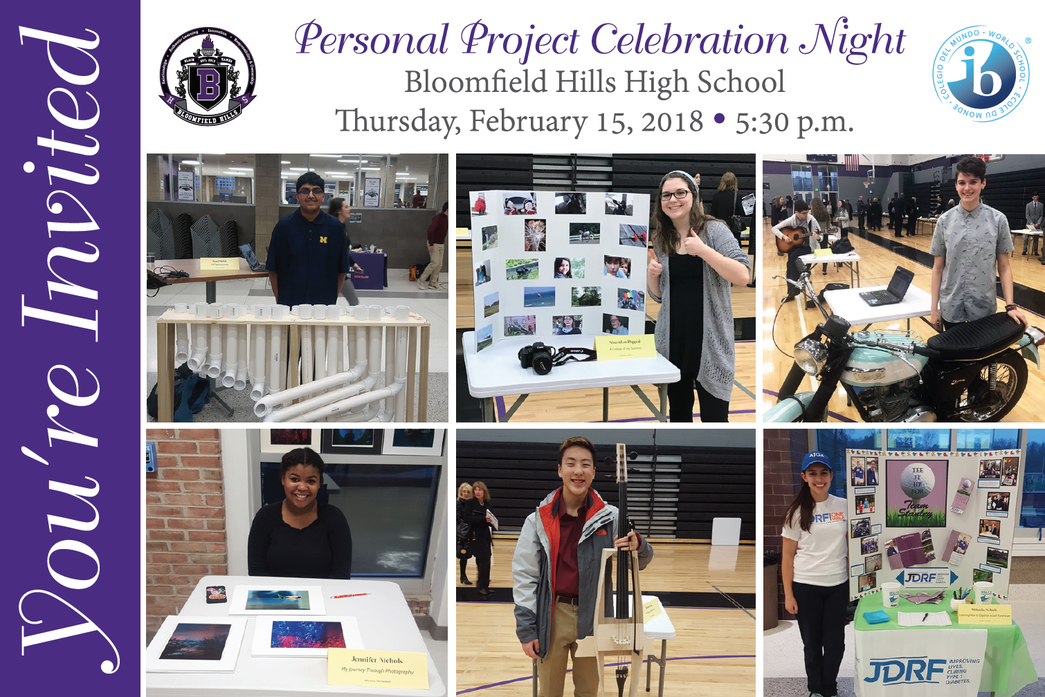 2018 MYP Personal Project Celebration Night