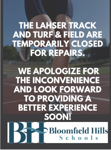 Lahser Track and Turf & Field are Temporarily Closed