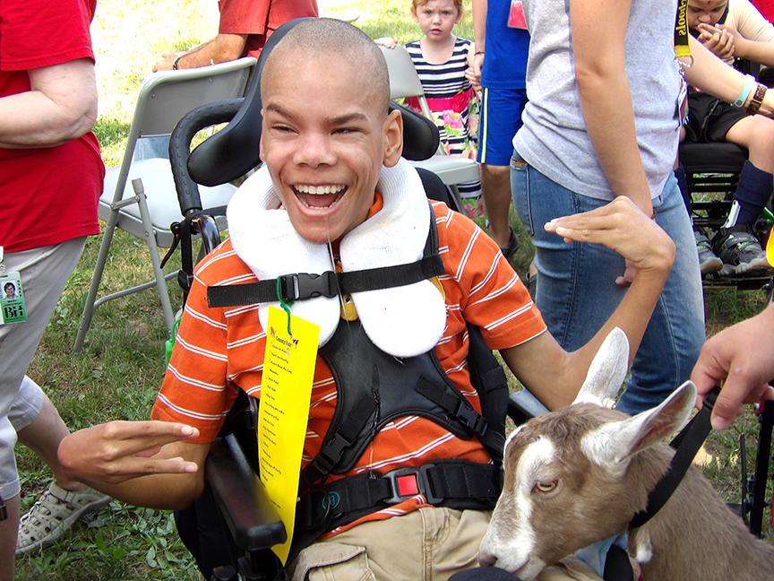 Student at Wing Lake Developmental Center for Special Needs